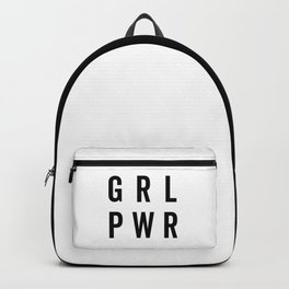 GRL PWR / Girl Power Quote Backpack