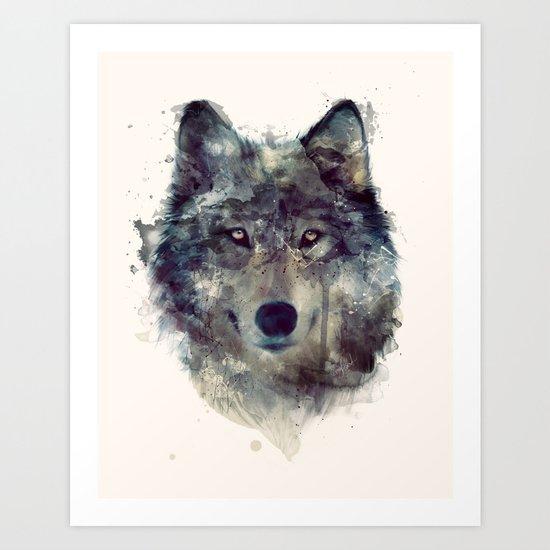 Wolf // Persevere  Art Print