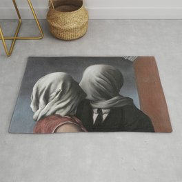 The Lovers II (Les Amants) 1928, Artwork Rene Magritte For Prints, Posters, Shirts, Bags Men Women K Rug