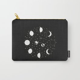 Wonder If - Moon Phase Illustration Carry-All Pouch