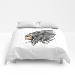 Native American Man Comforters