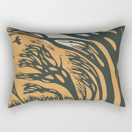 The runaway hare Rectangular Pillow