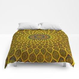 Yellow Arabic Mosaic Comforters