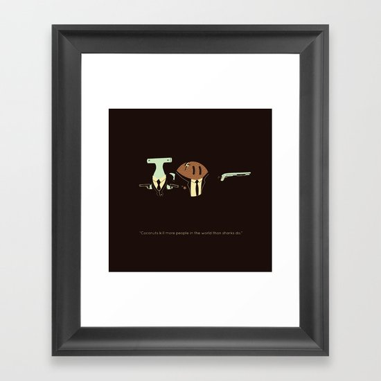 The truth about coconuts Framed Art Print