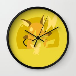 Pokémon Yellow - Pichu Evolution / Raichu Wall Clock