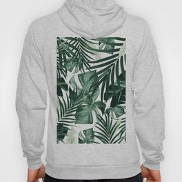 Tropical Jungle Leaves Pattern #4 #tropical #decor #art #society6 Hoody
