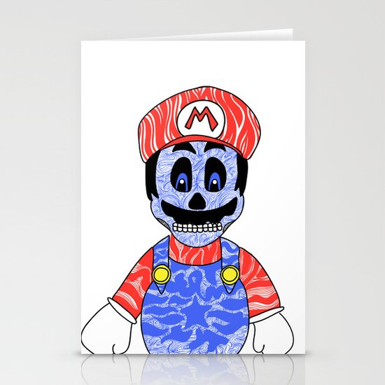 Blue Mario Stationery Cards