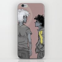 grantaire iPhone & iPod Skins featuring Enjolras and Grantaire by icarusdrunk