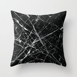 Silver Splatter 090 Throw Pillow