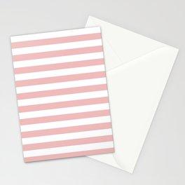 Blush & White Stripes Stationery Cards