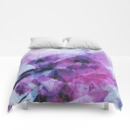 Precipice in Purple II Comforters