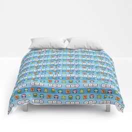 Pixel retro game Comforters