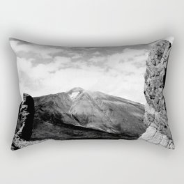 Teide in black Rectangular Pillow