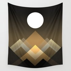 Path between hills Wall Tapestry