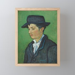 Portrait of Armand Roulin by Vincent van Gogh Framed Mini Art Print
