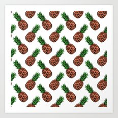 Neo-Pineapple - The Traditional Art Print