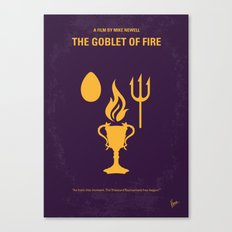 No101-4 My HP - GOBLET OF FIRE minimal movie poster Canvas Print