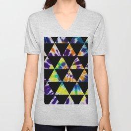 tie dyed triangles Unisex V-Neck