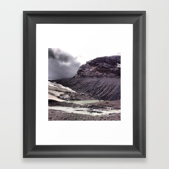 Misty Pond Framed Art Print