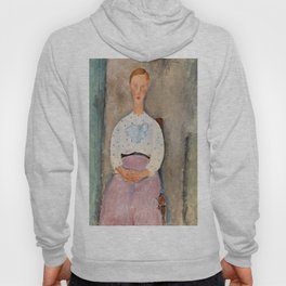 """Amedeo Modigliani """"Girl with a Polka-Dot Blouse (Jeune fille au corsage à pois)"""" Hoody"""