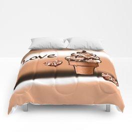 Love Ice cream Comforters