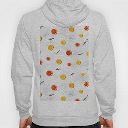 orange slices pattern Hoody