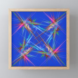 Fractal laser show Framed Mini Art Print