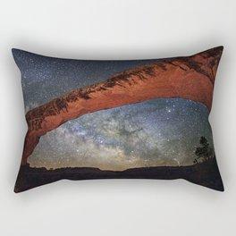 Milky Way through Natural Bridges National Monument Rectangular Pillow
