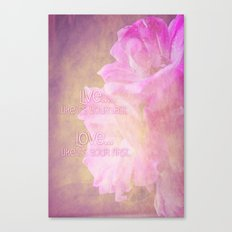 Live And Love Canvas Print