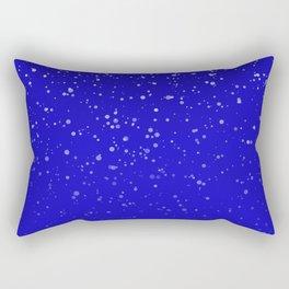 Effet neige bleu roi Rectangular Pillow