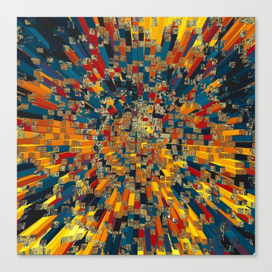 Flying prisms Canvas Print