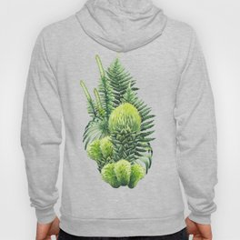 Watercolor prehistoric plants Hoody