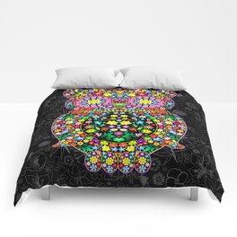 Owl Zentangle Floral   Comforters