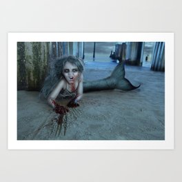 Mermaid Zombie Art Print