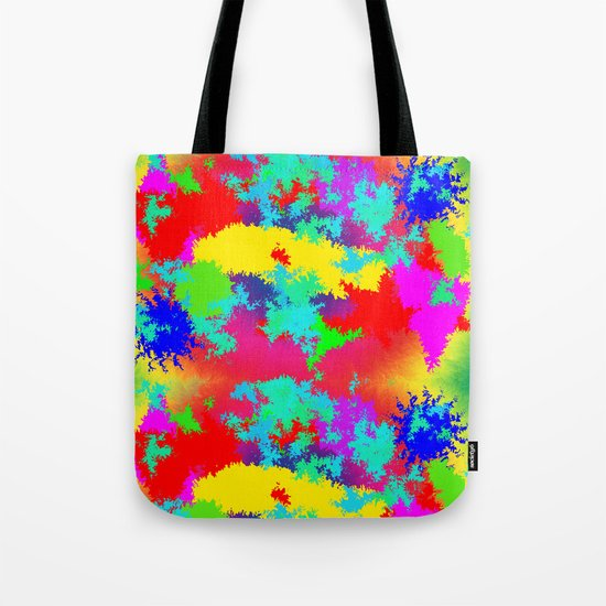 Colourful Random Trippy Pattern Tote Bag