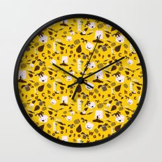 Chocolate Wasted Pattern Wall Clock