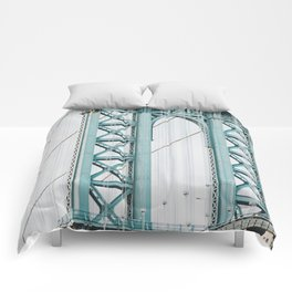 Manhattan Bridge New York City Comforters