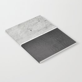 Raw Concrete and Black Leather Notebook