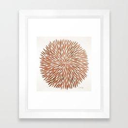 Rose Gold Burst Framed Art Print