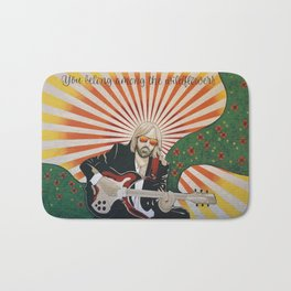 Wildflowers (Tom Petty Tribute Mural, Gainesville) Bath Mat