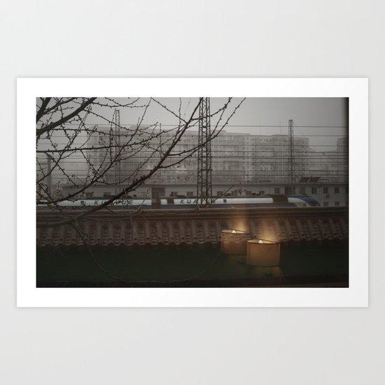 Morning Line Art Print