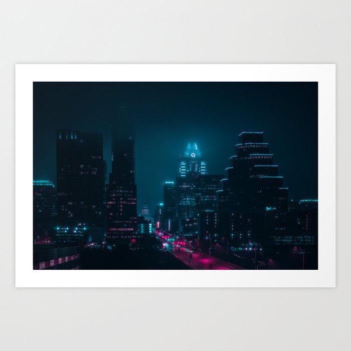 Foggy Nights Art Print