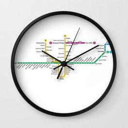 TTC Subway Map Wall Clock