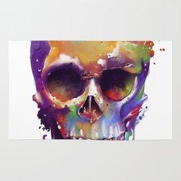 colorful skull Rug