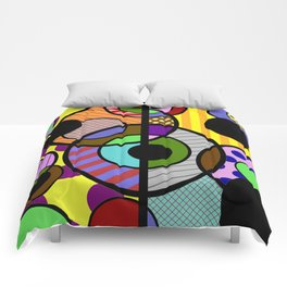Patterned Retro - Geometric, Abstract Artwork Comforters