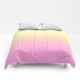 PEACH DREAMS - Minimal Plain Soft Mood Color Blend Prints Comforters