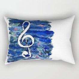 G clef or the sun key Rectangular Pillow