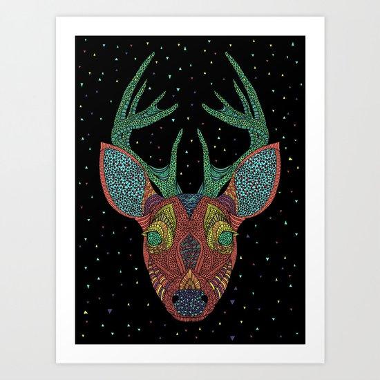 Intergalactic Deer Art Print