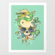 Summer Skullin' Art Print