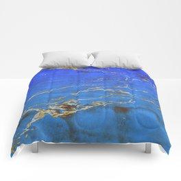 Sky Blue Marble With 24-Karat Gold Nugget Veins Comforters